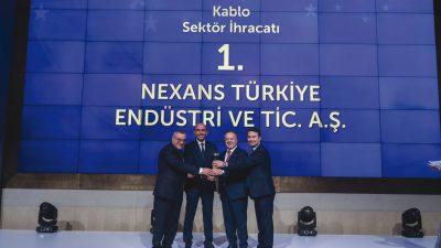 Kablo Sektörünün İhracat Şampiyonu Bu Yıl da Nexans Türkiye Oldu