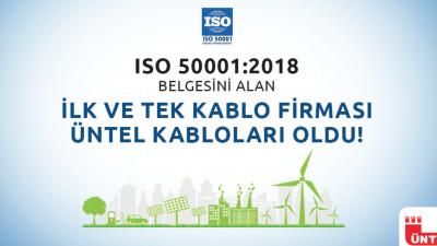 ÜNTEL KABLO ISO 50001:2018 Enerji Yönetim Sistem Belgesini alan ilk ve tek kablo firması oldu.