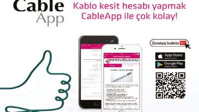 Kablo kesit hesabı yapmak CableApp ile çok kolay!