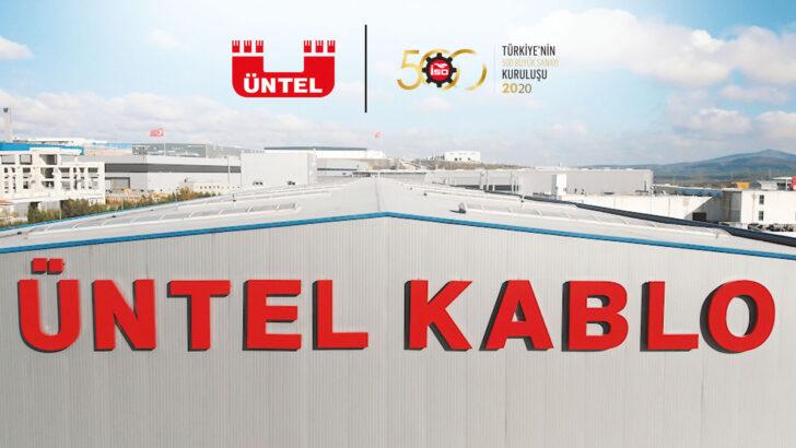 ÜNTEL KABLO İSO 500 BÜYÜK SANAYİ KURULUŞU LİSTESİNDE YER ALDI.